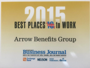 2015 Best Places to Work Arrow Benefits Group